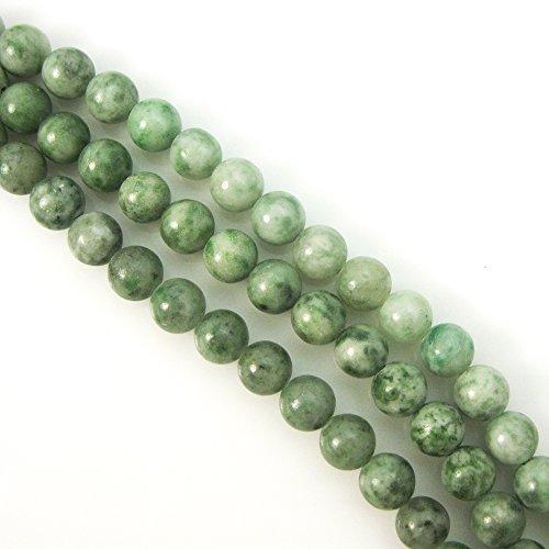 China Green Jade - Natural Stone - Smooth Round Beads 8mm (sold per strand) (8mm, China Green Jade) -