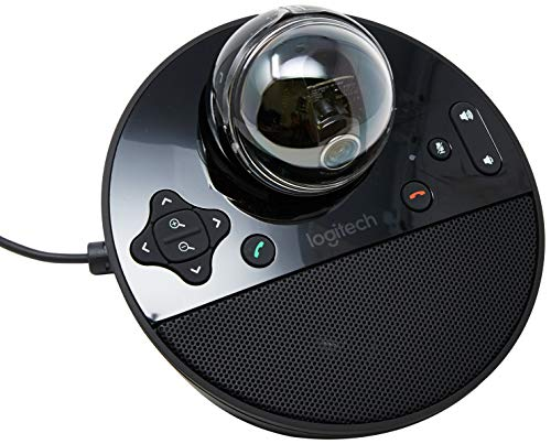 Logitech 960-000866  Conference Video Conference Webcam, HD 1080p Camera with Built-In Speakerphone