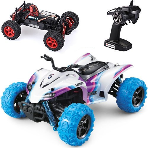 Hobby RC Vehicles,HOSIM Power RC Car Off Road Vehicle High Speed 30+MPH 2.4GHz 4WD 1:24 Scale Remete Control Drift Cars /ATV Motorcycle S609 with Rechargeable Batteries