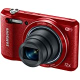 Samsung WB35F 16.2MP Smart WiFi & NFC Digital Camera with 12x Optical Zoom and 2.7 LCD (Red)