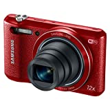 Samsung WB35F 16.2MP Smart WiFi & NFC Digital Camera with 12x Optical Zoom and 2.7' LCD (Red)