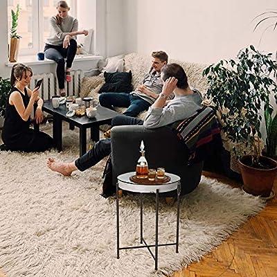 Amazon Com Glitzhome Decorative Trays 24 41 H Rustic Tv Tray