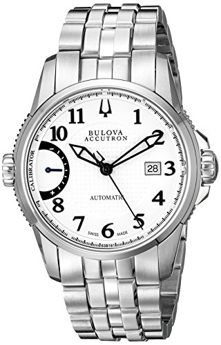 Bulova Men's 63B161 Calibrator Analog Display Swiss Automatic Silver Watch