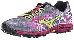 Mizuno Women's Wave Hayate Trail Running Shoe, Turbulence/Green Glow, 8.5 B US