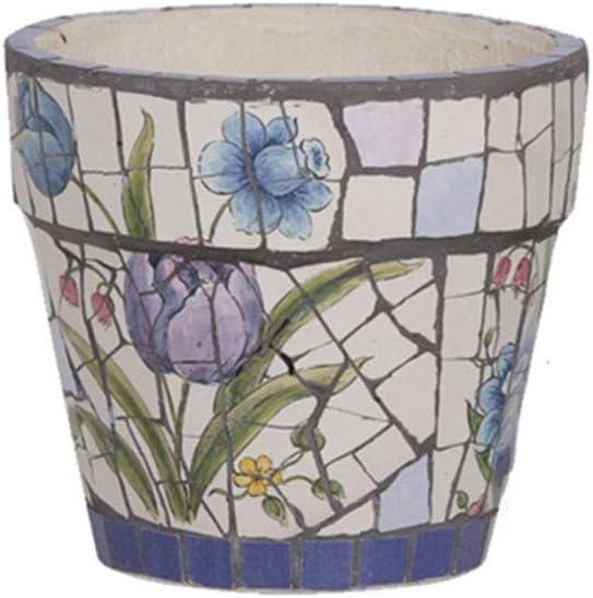 植物皿 アメリカンスタイルのセラミック工場ポット - ソーサー付きの屋内花工場ポットは、小規模から中規模のラウンド近代陶磁器ガーデンフラワーポットを大きさの ソーサー