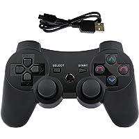 Mando PS3 inalámbrico Bluetooth PS3 Controller Doble vibración Six-Axis Mando a Distancia Joystick para Playstation 3 con Cable de Carga