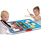SainSmart Jr. Kids Piano Mat Baby Musical Instruments with 10 Demo Songs, Musical Instruments for Toddlers
