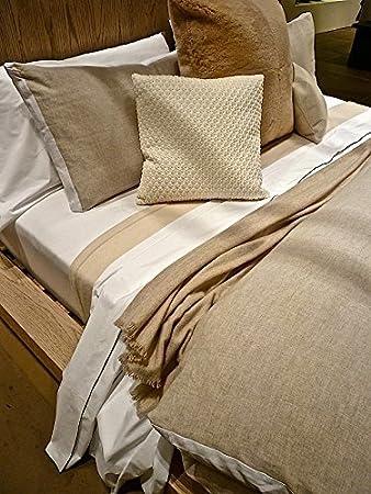 Calvin Klein Collection Luxus Bettwäsche 100 Leinen Standard Sham