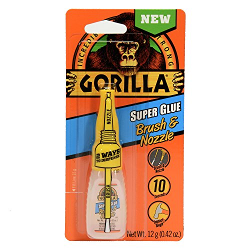 Gorilla Super Glue Brush & Nozzle, 12 g, Clear
