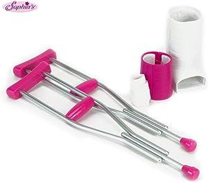 "Sophia's Doll Crutches, Cast & Accessory Set for 18"" Dolls, Doll Casts, Crutches & Bandage"