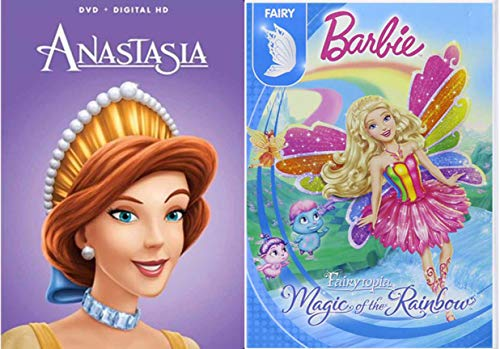 (Royal Fairy Barbie Double Feature Princess Pack Anastasia + Fairytopia Magic of the Rainbow 2 Pack Girls Fun Cartoon DVD)