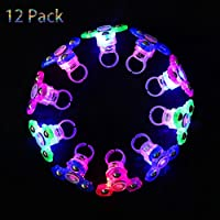 Mikulala Light Up Rings Fidget Toys For Kids 12 Pack Novelty Child Glow In The Dark Party Favors Bulk Flashing Led Kid Prizes, Fun Gifts for Graduation Party Supplies, Kids Party