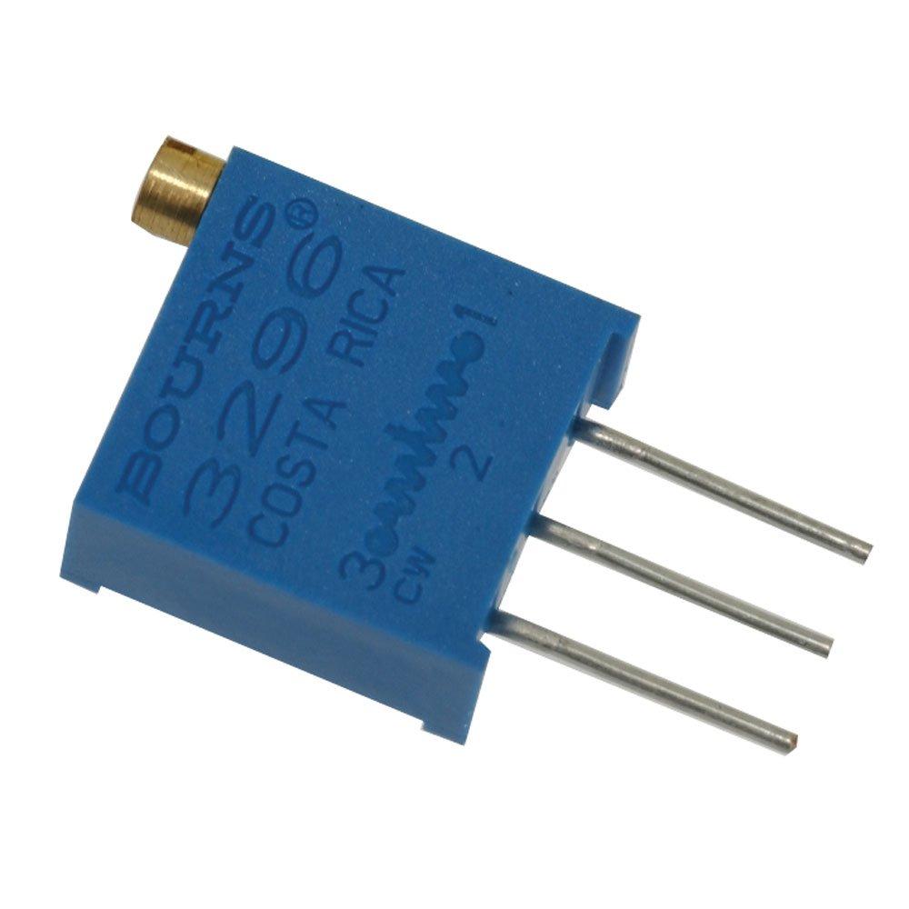 Bourns 3296W-1-503LF. Resistor Trimmer Potentiometer, 10% Tolerance, 1/2 Watt, 25 Turn, 2.19 mm Pin Through Hole Tube, 50k Ohm, 4.83 mm W x 11.55 mm H x 9.53 mm L (Pack of 4)