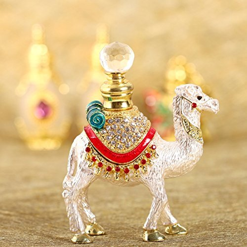 H&D Crystal Camel Figurine Collectible Perfume Bottle Empty Refillable Jars Essence Bottles ()
