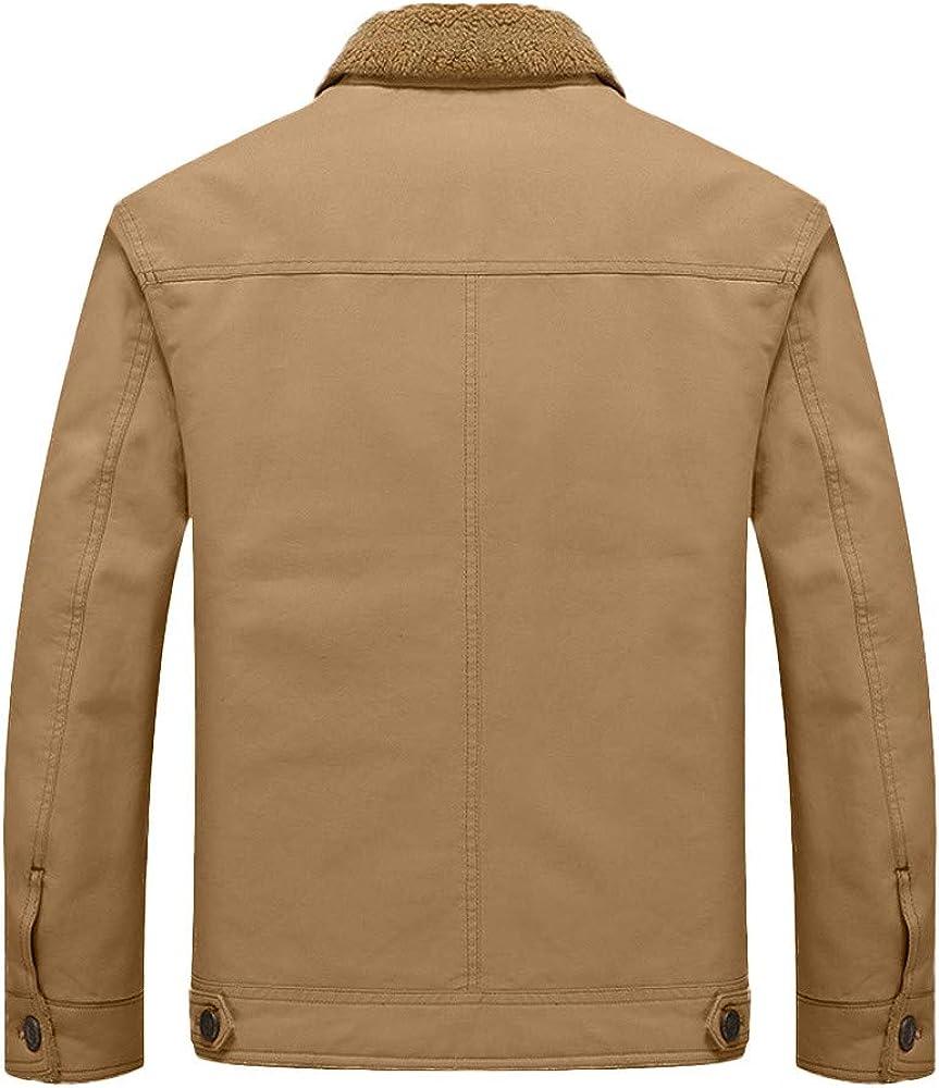 Mens Sport Coat.Fashion Mens Autumn Winter Warm Casual Pocket Button Thermal Jacket Top Coat