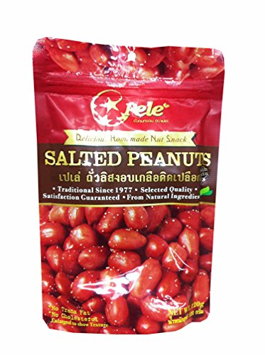 3 Packs of Salted Peanuts, Deliicious Homemade Nut Snack From Pele Brand, Selected Quality From Natural Ingredients. (No Trans Fat, No Cholesterol) (120g/ (Homemade Food Halloween Costume)