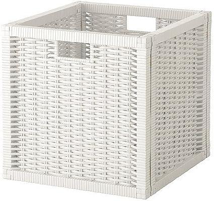 Cesta blanca IKEA BRANÄS; apta para estantería EXPEDIT y KALLAX: Amazon.es: Hogar