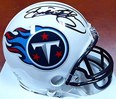 Derrick Henry Autographed Tennessee Titans Mini Helmet Steiner Holo Stock #112622
