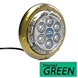 Bluefin LED Barracuda B12 Surface Mount Underwater Light-4500 Lumens (Emerald Green - 4500 Lumens)