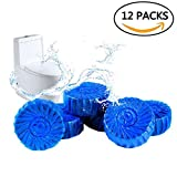 toilet chlorine tabs - 4home Automatic Toilet Bowl Cleaner – Blue Drop-In Antibacterial Cleaning Tablets, 12 Pack