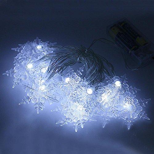 LIYUDL Snowflake String Lights,2m 20 LED 2 Mode