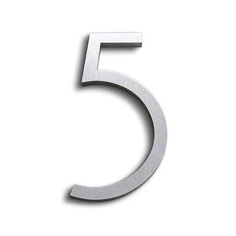 """Modern House Number Bronze Color Aluminum Modern Font Number FOUR /""""4/"""""""
