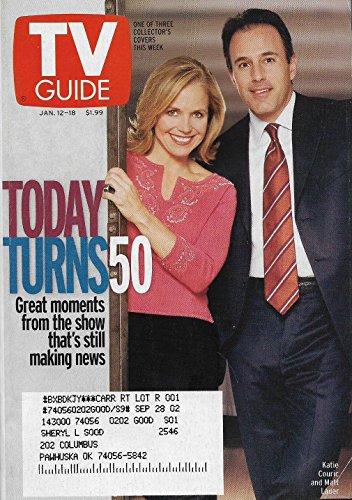 Katie Couric & Matt Lauer (Today Turns 50) l Robert Redford - January 12-18, 2002 TV Guide