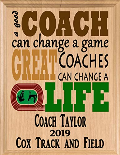 Broad Bay Track Coach Gifts Personalized Coaches Gift Team Appreciation Thank You Plaque