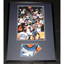 Autographed Marbury Photo - Framed 18x24 Slam 1999 Poster Display Nets - Autographed NBA Photos