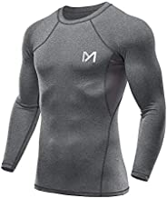 MEETYOO Men's Compression Shirt, Cool Dry Long Sleeve Underwear Top for Men, Sport Fitness Base L