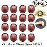 Best Chair Glides for Tile Floors Chair Leg caps Wood Floor Protectors with Felt Furniture Pads, Chair Feet Glides Furniture Carpet Saver, Silicone/Rubber Caps Tips,Fit Round 7/8 inch and Square 7/10 inch 16 Pack
