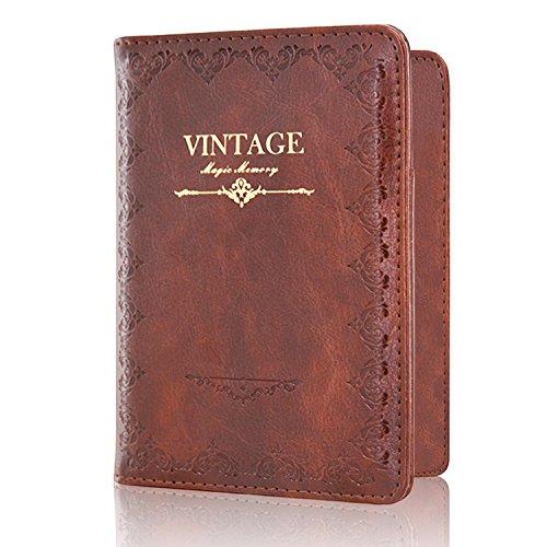 Passport Holder Case, ACdream Protective Premium PU Leather RFID Blocking Wallet Case for Passport, (Vintage-Brown)