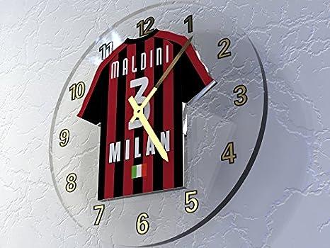 MyShirt123 - Reloj de pared personalizable, diseño de camisetas de equipos de la Liga de Campeones de la UEFA: Amazon.es: Oficina y papelería