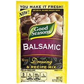 Good Seasons Balsamic Salad Dressing & Recipe Mix .7 oz (Pack of 6) 1 You Make It Fresh! Just Add Oil, Balsamic Vinegar & Water An artfully crafted blend of herbs & spices