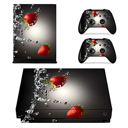 - Decal Kid Skin Xbox one x - Strawberries | Protective, Durable, Unique Vinyl Decal wrap Cover | Easy to Apply, Remove Change Styles Change Styles