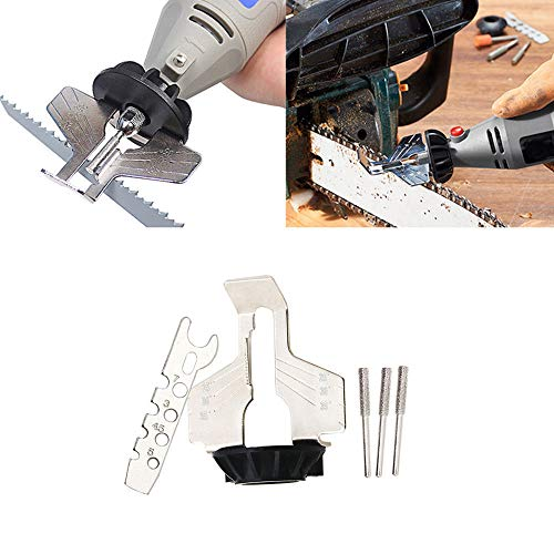 Lljin Chain Saw Sharpening Tool Attachment Rotary Power Drill Hand Sharpener - Hand Saws Sharpening
