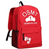 Gumstyle Osomatsu kun Backpack Anime School Bag Classic Schoolbag Red