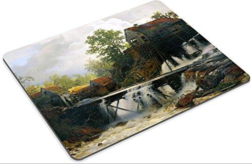 MSD Mouse Pad Village Scenes Andreas Achenbach 1815 To 1910 Artwork Name Muhle Im Walde An Einem Sturzenden Bergwasser Customized Desktop Laptop Gaming Mousepads