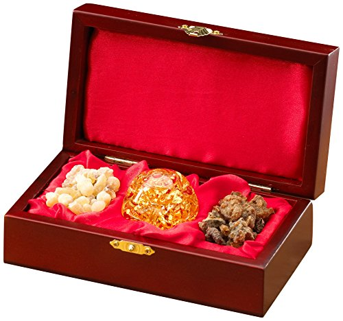 Three Kings Gifts Gold Frankincense and Myrrh Standard Single Box Set, 6 3/4 by 3 3/4 by 2-Inch - incensecentral.us