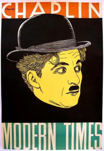 Modern Times POSTER Movie (27 x 40 Inches - 69cm x 102cm) (1936) (Style (Chaplin Movie Poster)