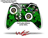 St Patricks Clover Confetti - Decal Style Skin Set fits XBOX One S Console and 2 Controllers (XBOX SYSTEM SOLD SEPARATELY)