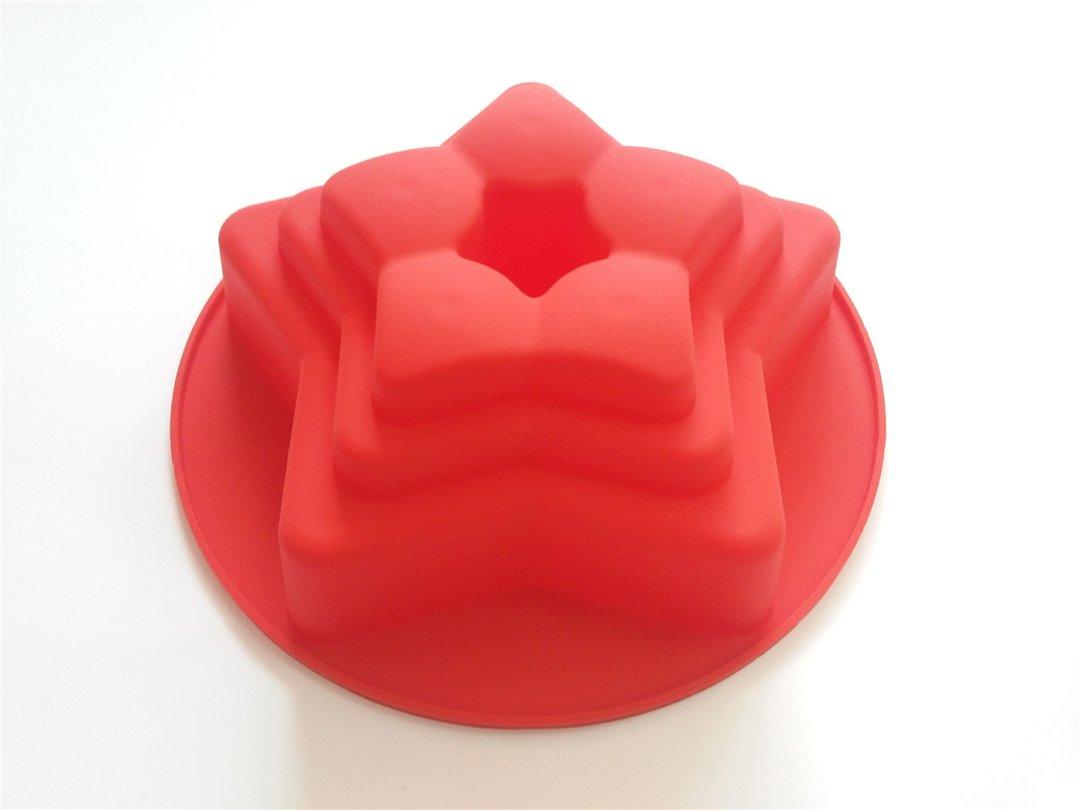 Muffin Cioccolato Tortini Antiaderente /& Termoresistente FantasyDay/® Stampo in Silicone per Tortiera Forma di La Stella a Cinque Punte Dolci Torte Cioccolato 26 cm Muffa da Forno per Biscotti