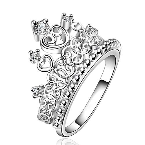shelian Euro/&American Style Rings Diamond Rhinestone Cystal Crown Jewellry Ornament Lodestar