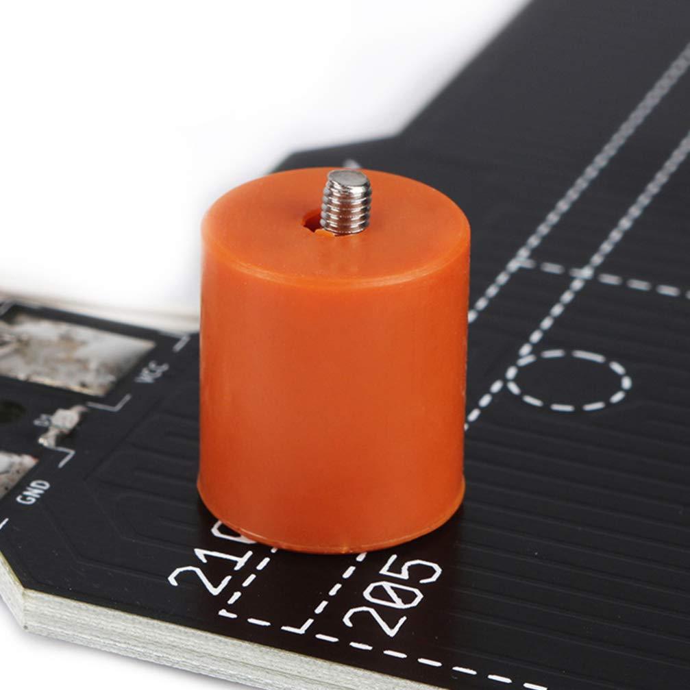 Orange Hemobllo 4pcs 16mm Non-Stick Leveling Column Silicone Hot Bed Leveling Column Heat-Resistant Spacer Solid Platform Leveler for 3D Printer