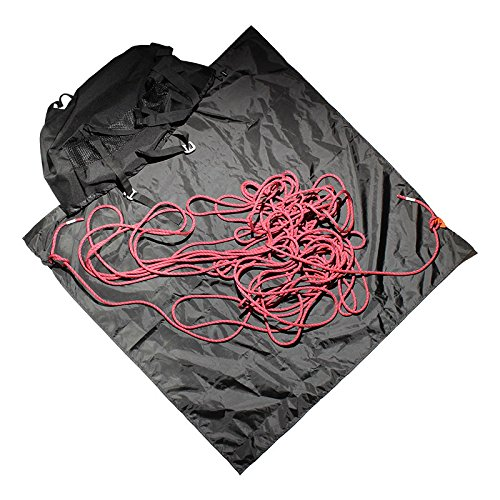 Psychi Rock Climbing Rope Bag with Ground Sheet Buckles and Carry Straps