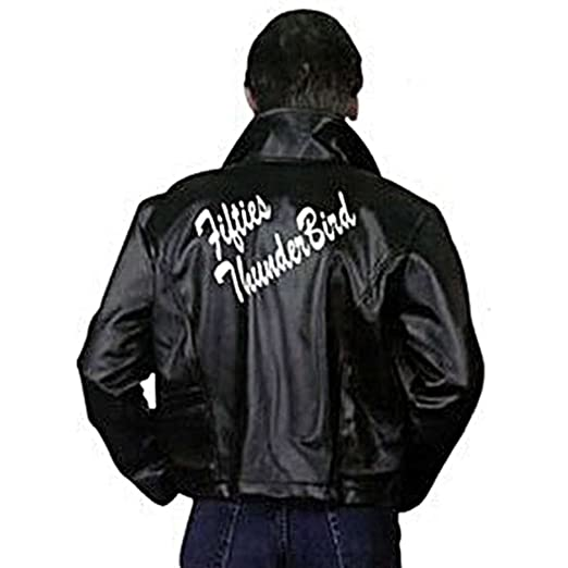 50s Costumes | 50s Halloween Costumes Charades Mens Fifties Thunderbirds Costume Leather Jacket Large $39.27 AT vintagedancer.com