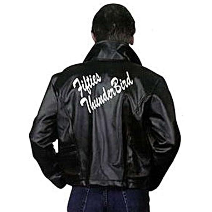 1950s Men's Costumes: Greaser, Elvis, Rockabilly, Prom Charades Mens Fifties Thunderbird Jacket $35.09 AT vintagedancer.com
