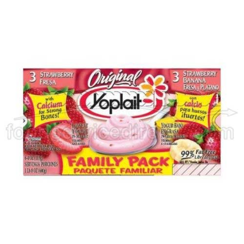 Yoplait Original Strawberry and Strawberry Banana Yogurt, 4 Ounce -- 48 per case. by General Mills