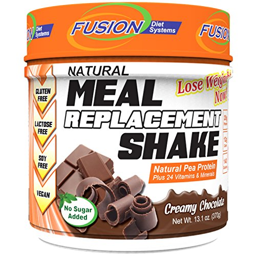 Fusion Diet Systems Pea Protein Natural Meal Replacement Shake, Chocolate, 12 Ounce