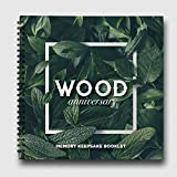 Pillow & Toast Our 5 Years Wedding A Romantic Wood Themed Memory Book & Photo Album for 5th Anniversary Celebration to Congratulate Couple. Marriage Gifts for Men.